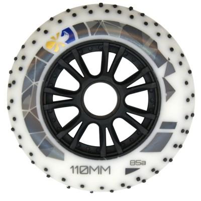 Колеса для роликов Flying Eagle Speed +Spark 110mm/85A. Белый в магазине Rollbay.ru