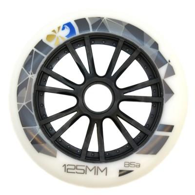Колеса для роликов Flying Eagle Speed 125mm/85А. Белый в магазине Rollbay.ru