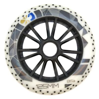 Колеса для роликов Flying Eagle Speed +Spark 125mm/85A. Белый в магазине Rollbay.ru
