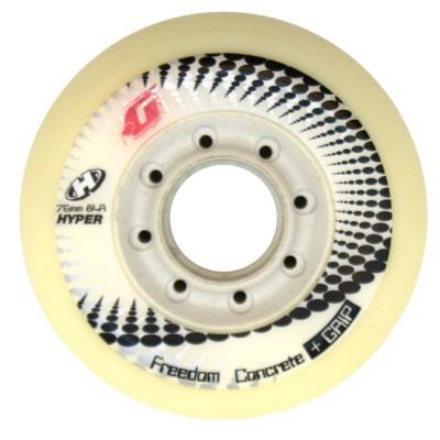 Колеса для роликов Hyper Concrete 76mm/84A. Белый в магазине Rollbay.ru