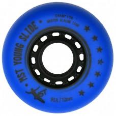 Колеса для роликов MST Slide 4x72+4x76mm/90A. Комплект. Синий