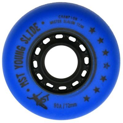 Колеса для роликов MST Slide 4x72+4x76mm/90A. Комплект. Синий в магазине Rollbay.ru