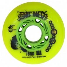 Колеса для роликов One Piece 76mm/88А. Зеленый