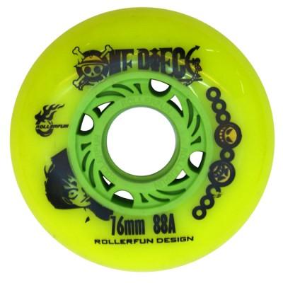 Купить Колеса для слайдов Колеса для роликов One Piece 76mm/88А. Зеленый в магазине RollBay.ru