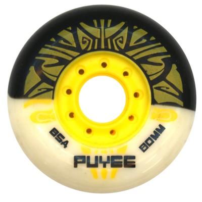 Купить Колеса для слалома Колеса для роликов PUYEE 80mm/85А. Черно-белые в магазине RollBay.ru