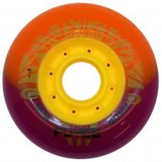 Колеса для роликовых коньков PUYEE 80mm/85А. Оранжево-фиолетовые