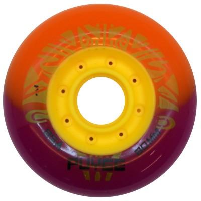 Колеса для роликовых коньков PUYEE 80mm/85А. Оранжево-фиолетовые в магазине Rollbay.ru