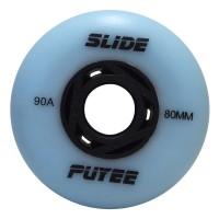 Колеса для роликовых коньков Puyee Slide 76-80mm/90A. Голубой