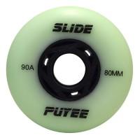 Колеса для роликовых коньков Puyee Slide 76-80mm/90A. Зеленый