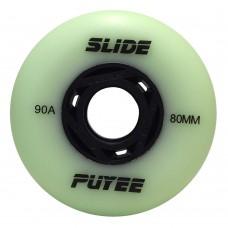 Колеса для роликовых коньков Puyee Slide 72-80mm/90A. Зеленый