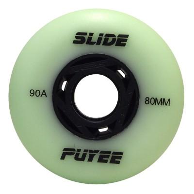 Колеса для роликовых коньков Puyee Slide 76-80mm/90A. Зеленый в магазине Rollbay.ru