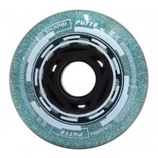 Колеса для роликовых коньков Puyee Glitter 68-80mm/82A. Зеленый