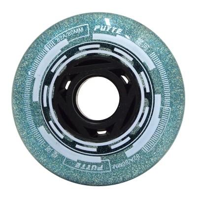 Колеса для роликовых коньков Puyee Glitter 68-80mm/82A. Зеленый в магазине Rollbay.ru