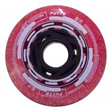 Колеса для роликов Puyee Glitter 68-80mm/82A. Розовый