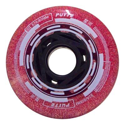 Колеса для роликовых коньков Puyee Glitter 68-80mm/82A. Розовый в магазине Rollbay.ru