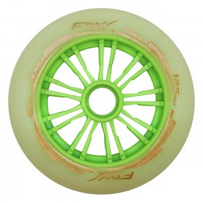 Колеса для роликов Fox 125mm/85A. Зеленый в магазине Rollbay.ru