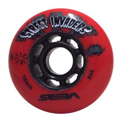 Колеса для роликовых коньков Seba Street Invaders 76mm/84A. Красный в магазине Rollbay.ru