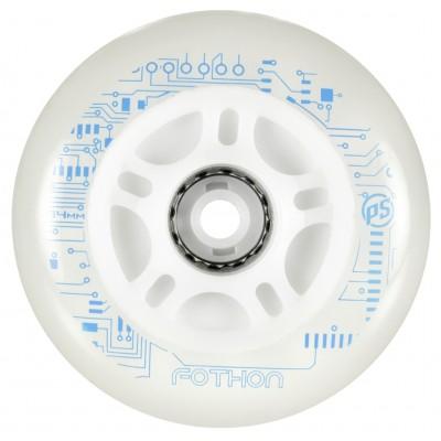 Колеса для роликов и самоката Powerslide Nightwheels Fothon 145mm/82A. Голубые в магазине Rollbay.ru