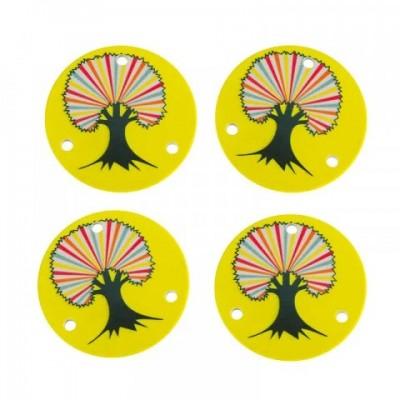Гайка декоративная Chaya Universal Nuts Powers Color Tree. 4-pack в магазине Rollbay.ru