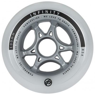 Колеса для роликов PowerSlide Infinity 100mm/85А. Белый. Без принта в магазине Rollbay.ru