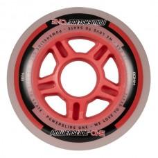 Колеса для роликов Powerslide One Wheels 76-80mm/82A Red