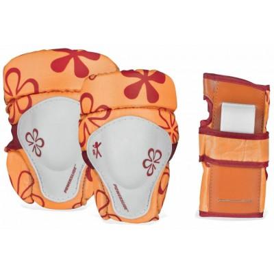 Защита для роликов Powerslide Pro Kids Tri-pack Orange в магазине Rollbay.ru