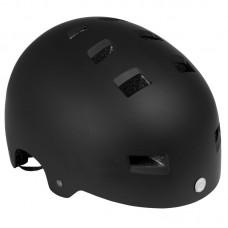 Шлем для роликов и самоката Powerslide One Allround Stunt 48-54. Черный