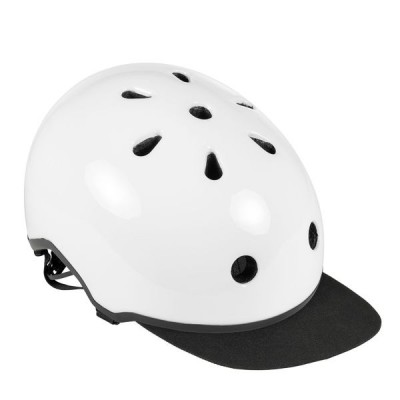 Шлем для роликов и самоката Ennui Elite White with peak, 54-59 в магазине Rollbay.ru