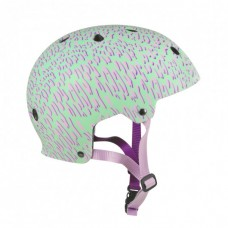 Шлем для роликов и самоката Powerslide Allround Helmet Green Panther