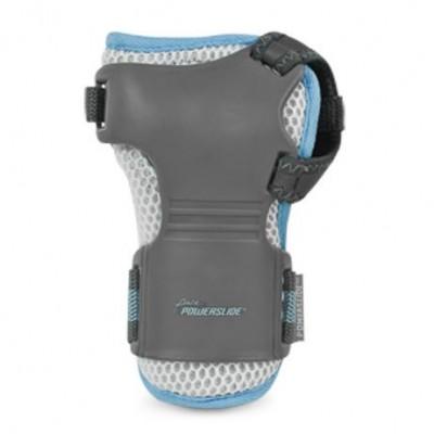 Защита запястья для роликов Powerslide Pro Air Wristguard Pure Grey/White/Blue в магазине Rollbay.ru