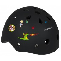 Шлем для роликов и самоката Powerslide Allround Kids. Черный