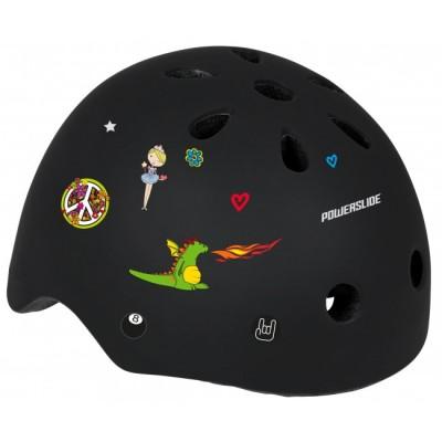 Шлем для роликов и самоката Powerslide Allround Kids. Черный в магазине Rollbay.ru