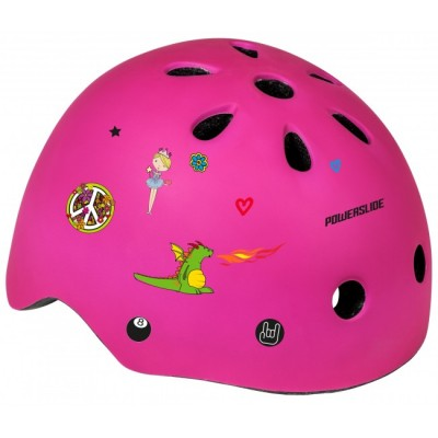 Шлем для роликов и самоката Powerslide Allround Kids. Розовый в магазине Rollbay.ru