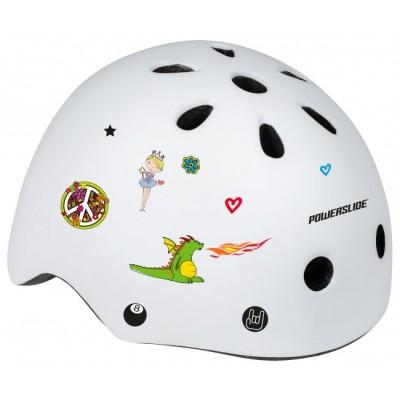 Шлем для роликов и самоката Powerslide Allround Kids. Белый в магазине Rollbay.ru