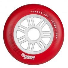 Колеса для роликов Powerslide Spinner 100mm/88A. Красный