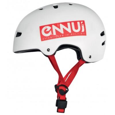 Шлем для роликов и самоката Ennui BCN White/Red 54-58 в магазине Rollbay.ru