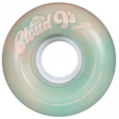 Колеса для квадов Chaya Cloud 9s 62x38/78A Green/Pink 4-pack в магазине Rollbay.ru