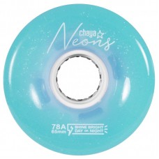 Колеса для квадов Chaya Neon Blue LED 65x38/78A 4-pack