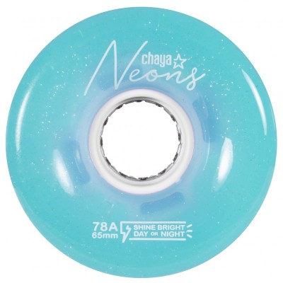 Колеса для квадов Chaya Neon Blue LED 65x38/78A 4-pack в магазине Rollbay.ru
