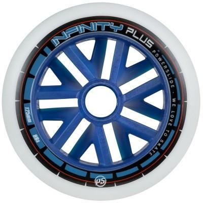 Колеса для роликовых коньков Powerslide Infinity Plus Blue Core 125mm/88A в магазине Rollbay.ru