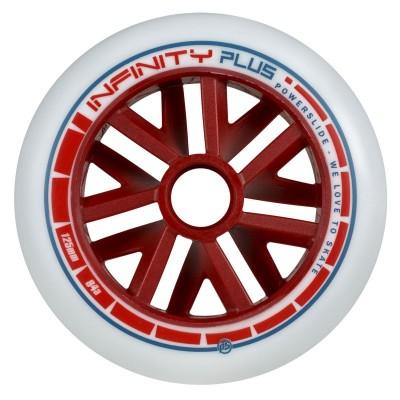Колеса для роликовых коньков Powerslide Infinity Plus Red Core 125mm/84A в магазине Rollbay.ru