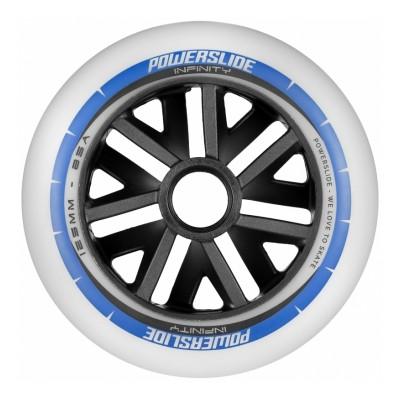 Колеса для роликовых коньков Powerslide Infinity 125mm/85A. Синий 6шт. в магазине Rollbay.ru