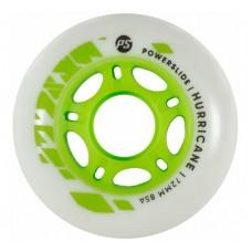 Колеса для роликовых коньков Powerslide Hurricane 72mm/85A (White/Green) 4-pack