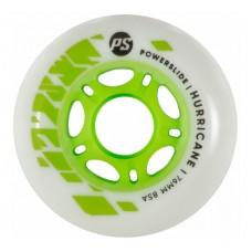 Колеса для роликовых коньков Powerslide Hurricane 76mm/85A (White/Green)