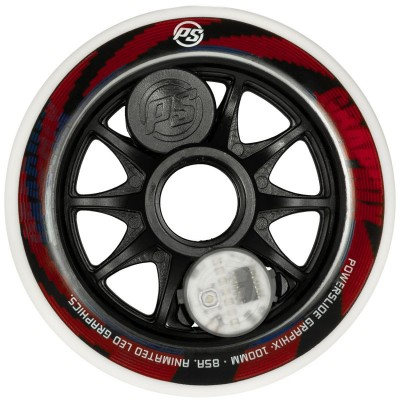 Колеса для роликов Powerslide Graphix Colorful 100mm в магазине Rollbay.ru