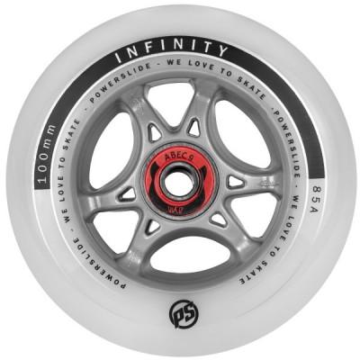 Колесо для роликов Powerslide Infinity RTR 110mm/85A с подшипниками в магазине Rollbay.ru