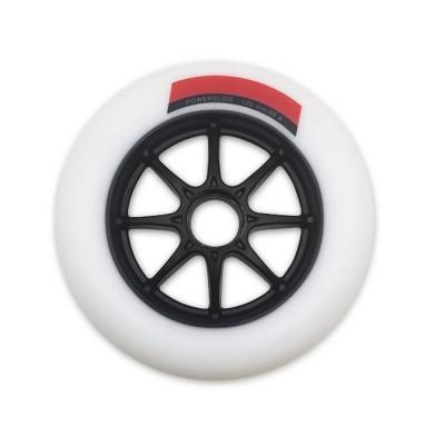 Колеса для роликовых коньков PowerSlide Infinity 125mm/86А. Белый в магазине Rollbay.ru