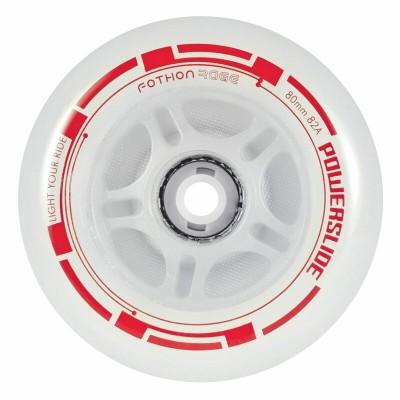 Колеса для роликов светящиеся Powerslide Fothon Rage 84mm/82A (Красный) в магазине Rollbay.ru