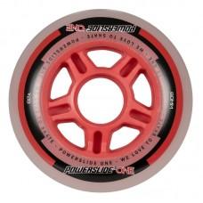 Колеса для роликов Powerslide One 80mm/82A Колеса/Втулки/Подшипники. Набор