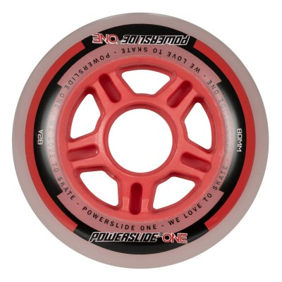 Колеса для роликов Powerslide One 80mm/82A Колеса/Втулки/Подшипники. Набор в магазине Rollbay.ru